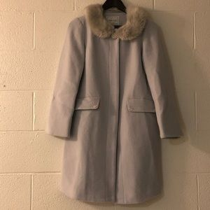 Peacoat with faux fur collar